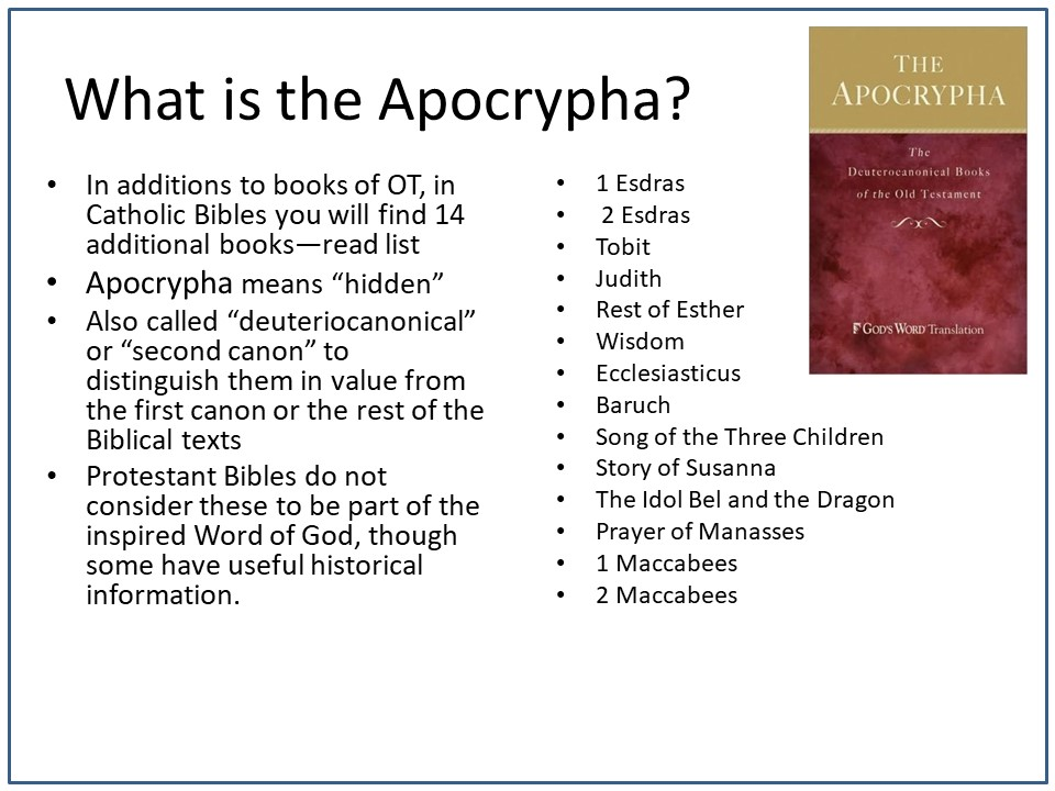 List of Books in the Apocrypha