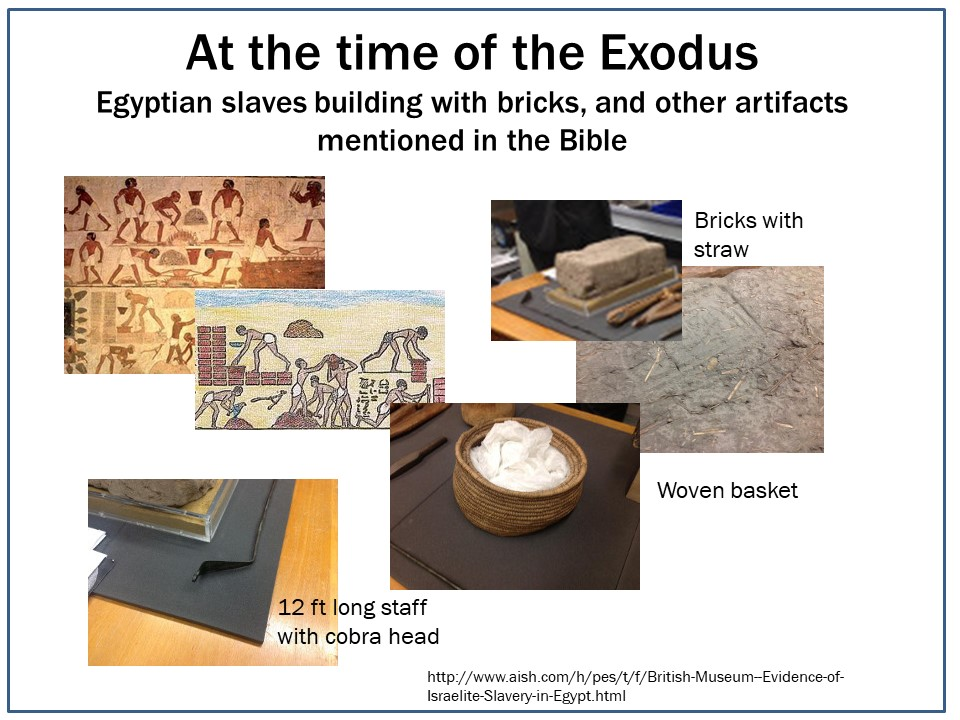Artifacts from time of the Exodus