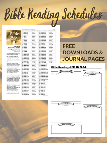 FREE DOWNLOADS Bible Schedules